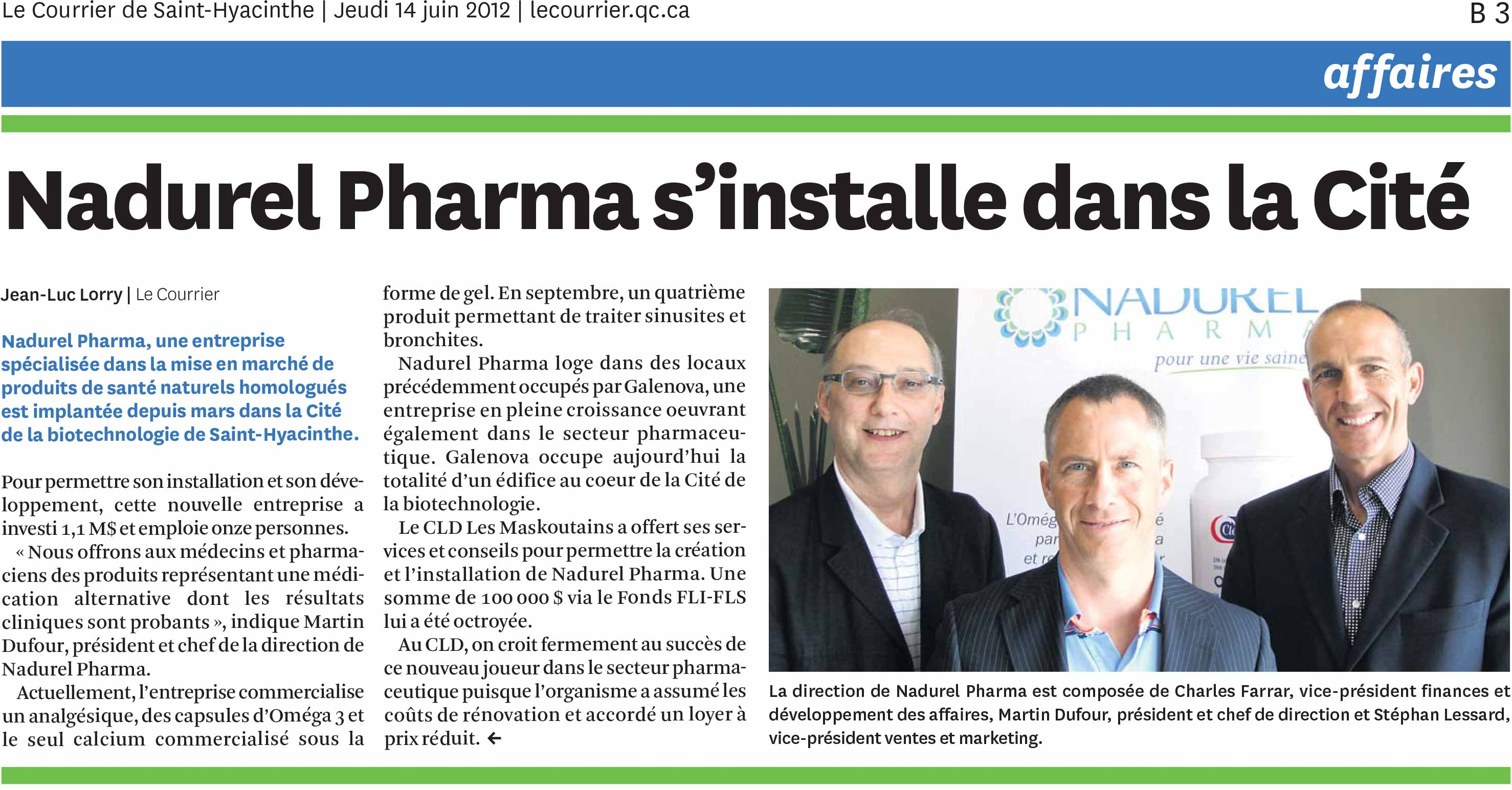 photo de Charles Farrar, Martin Dufour et Stephan Lessard, dans un article de journal le courrier st hyacinthe